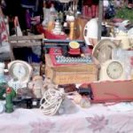 Items on a table at a garage sale