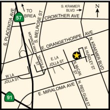 Map to gas station