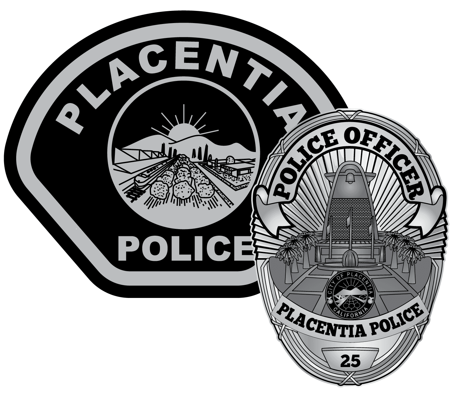 Placentia Badge and Patch
